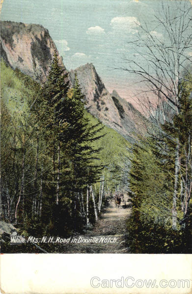 White Mts, N.H.Road in Dixville Notch New Hampshire