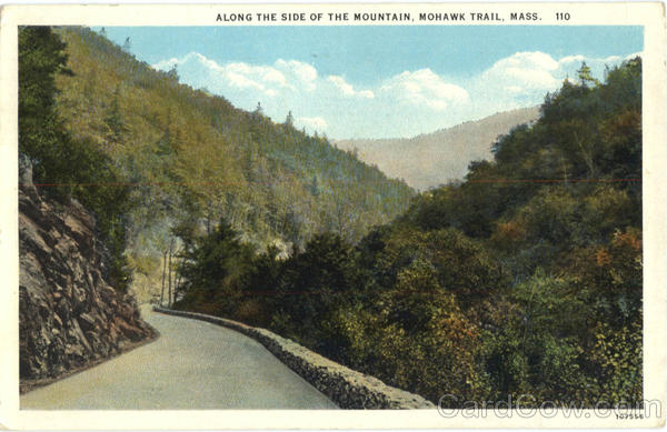 Along the side of the Mountain Mohawk Trail Massachusetts