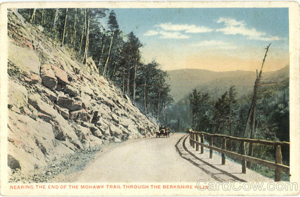 Nearing the end of the Mohawk Trail through the Berkshire Hills Berkshires Massachusetts