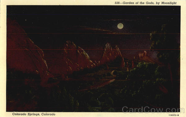 Garden of the Gods, by Moonlight Colorado Springs