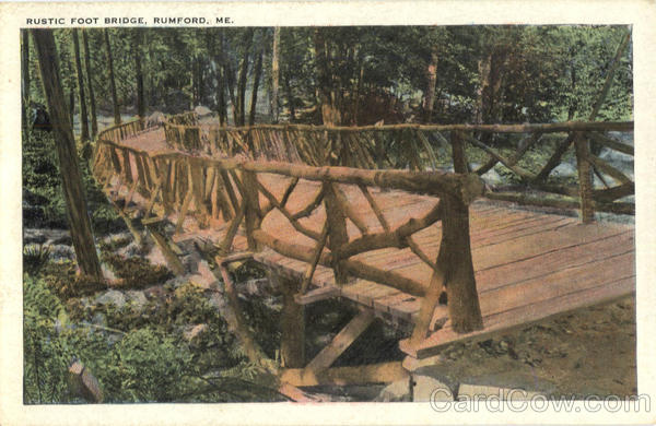 Rustic Foot Bridge Rumford Maine