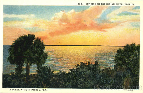 Sunrise On The Indian River Fort Pierce Florida