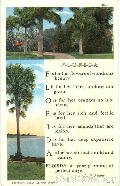 florida poem poems  u0026 poets