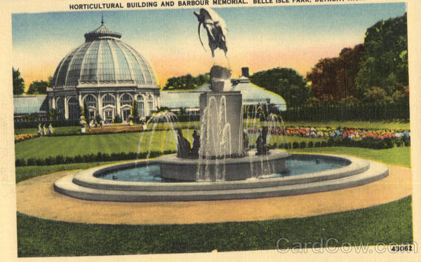 Horticultural Building And Barbour Memorial, Belle Isle Park Lancaster Michigan