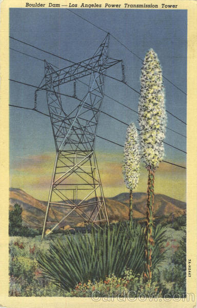 Boulder Dam - Los Angeles Power Transmission Tower Arizona