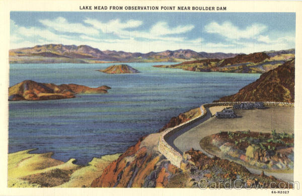 Lake Mead from Observation Point, Boulder Dam Arizona