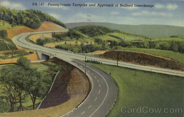 Pennsylvania Turpike and Approach of Bedford Interchange Turnpike