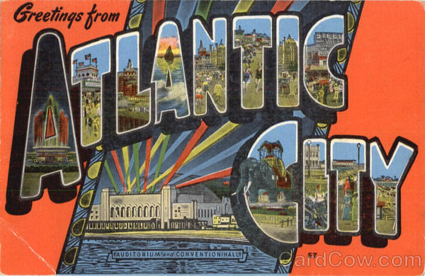 Greetings From Atlantic City Large Letterl New Jersey