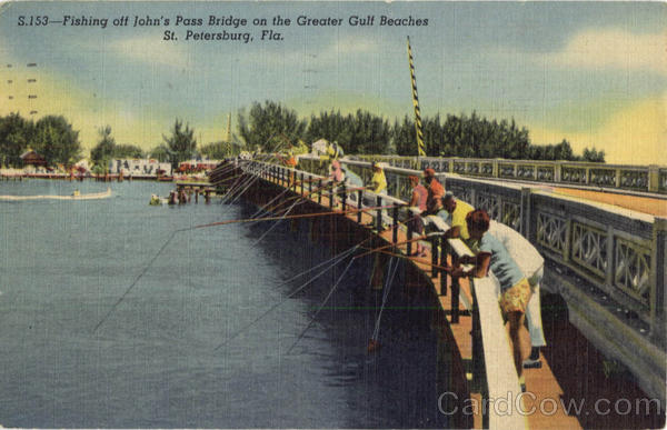 Fishing off john 39 s pass bridge on the greater gulf beaches for St petersburg fishing