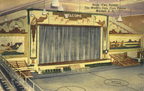 Stage (Two Panels) The World's Only Corn Palace Mitchell South Dakota