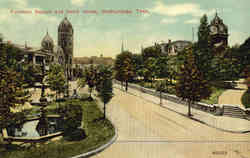 Fountain Square and Court House Postcard