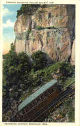 Lookout Mountain Incline Railway Car ascending Lookout Mountain