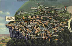 Bird's-Eye View, Lookout Mountain Postcard