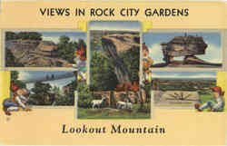 Views in Rock City Gardens, Lookout Mountain