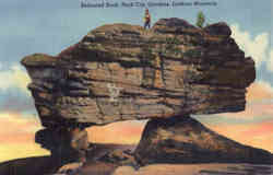Balanced Rock, Lookout Mountain Postcard