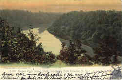 Genesee River looking South from Seneca Park Postcard
