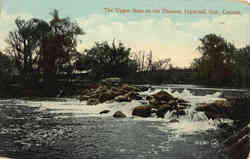 The Upper Dam on the Thames Postcard