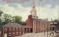 Independence Hall, where the Declaration of Independence was signed