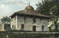 Hamlin Memorial Library, Oxford County Jail Postcard