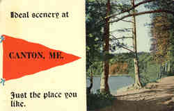 Canton Maine Banner Card