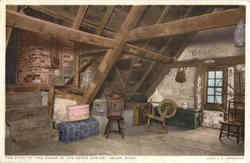 The Attic to the House of the Seven Gables Postcard
