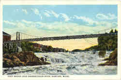 Foot Bridge Over Androscoggin River