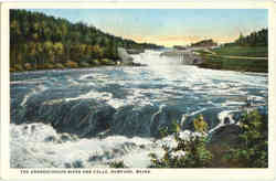 The Androscoggin River And Falls