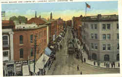 Union Square And Lisbon St., Looking South Postcard