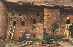 Spruce tree house and south section of the ruins. Manitou Cliff Dwellings