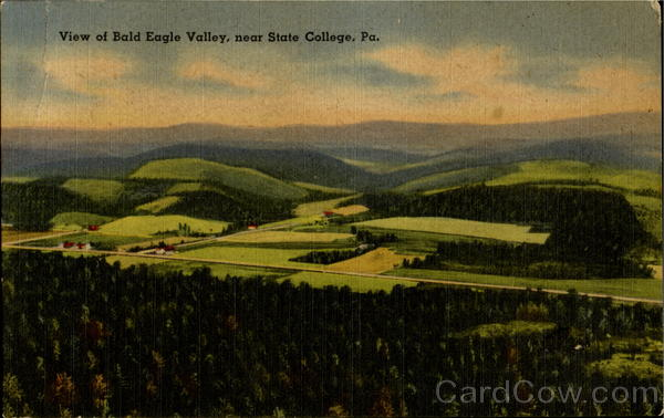 View Of Bald Eagle Valley, State College Pennsylvania
