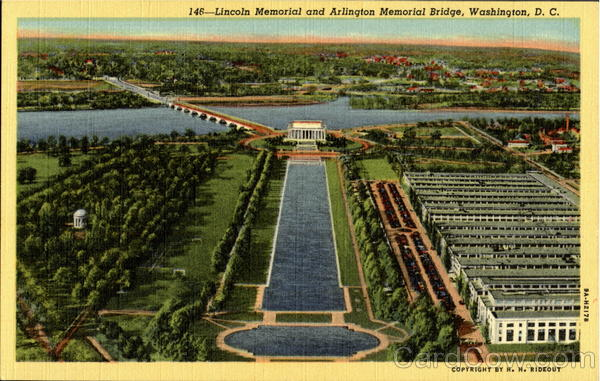 Lincoln Memorial And Arlington Memorial Bridge Washington District of Columbia