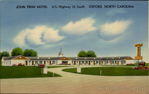 John Penn Motel, U. S. Highway 15 Oxford North Carolina