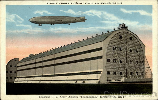 Airship Hangar At Scott Field Belleville Illinois