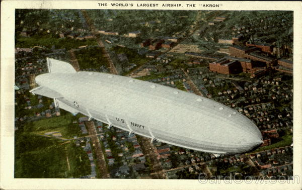 The World's Largest Airship Akron Aircraft