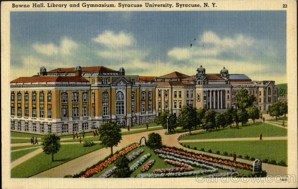 Bowne Hall Library And Gymnasium, Syracuse University New York