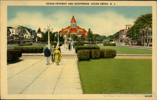 Ocean Pathway And Auditorium Ocean Grove New Jersey