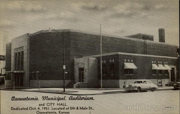 Osawatomie >> Osawatomie Municipal Auditorium And City Hall Kansas