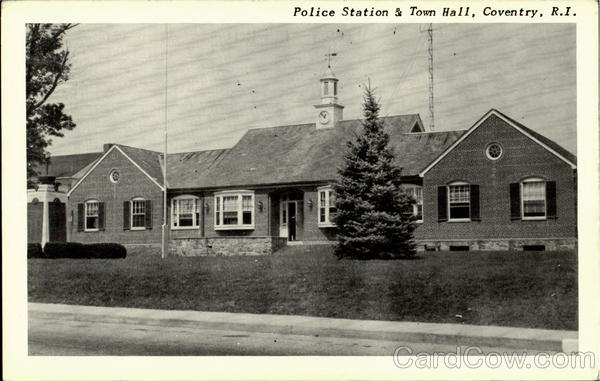 Police Station & Town Hall Coventry Rhode Island