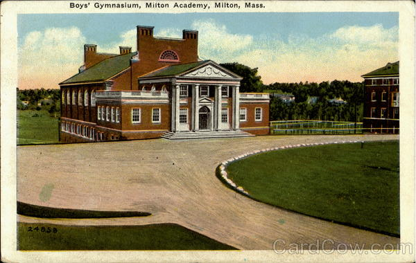 Boy's Gymnasium, Milton Academy Massachusetts
