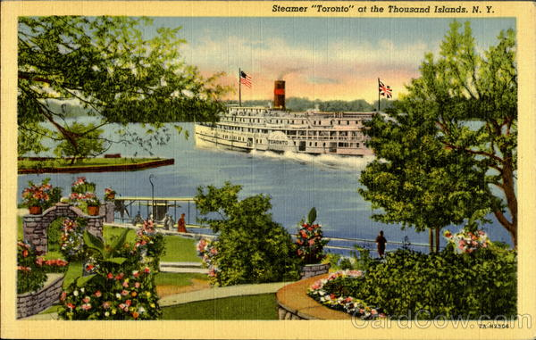 Steamer Toronto At The Thousand Islands New York