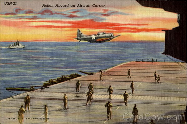 Action Aboard An Aircraft Carrier Navy