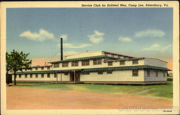 Service Club For Enlisted Men, Camp Lee Petersburg Virginia