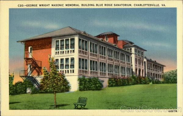 George Wright Masonic Memorial Building, Blue Ridge Sanatorium Charlottesville Virginia