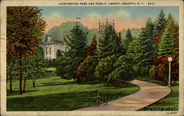 Huntington Park And Public Library Oneonta New York