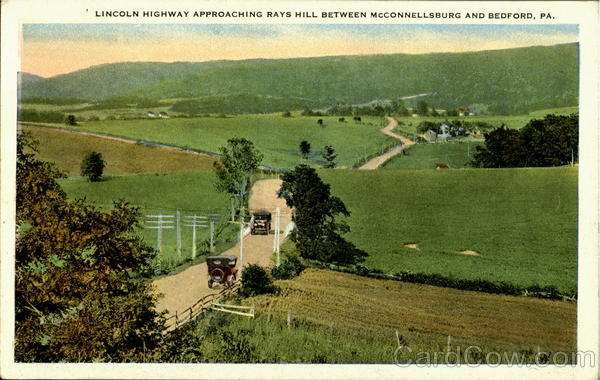 Lincoln Highway Approaching Rays Hill Pennsylvania