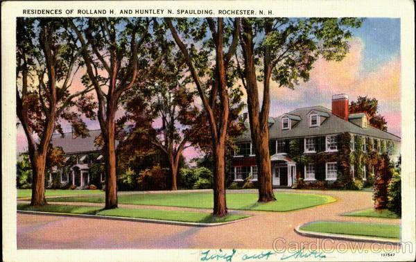 Residence Of Rolland H. And Huntley N. Spaulding Rochester New Hampshire
