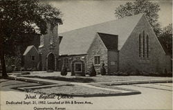 First Baptist Church, 8th & Brown Ave Postcard