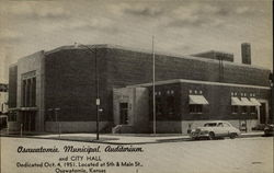 Osawatomie Municipal Auditorium And City Hall Postcard