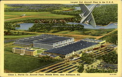 Largest Unit Aircraft Plant In The U. S. A Postcard