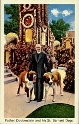 Father Dobberstein And His Bernard Dogs